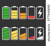 battery icon vector set... | Shutterstock .eps vector #577940890