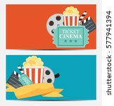 gift voucher template for your... | Shutterstock .eps vector #577941394