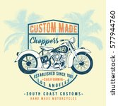 chopper motorcycle illustration ... | Shutterstock .eps vector #577944760