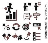 strategy icons | Shutterstock .eps vector #577946974