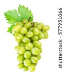 grapes isolated on white...   Shutterstock . vector #577951066