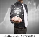 hands of business person... | Shutterstock . vector #577952839