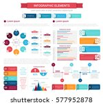 infographic element set. bar... | Shutterstock .eps vector #577952878