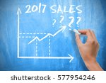 sales forecast for 2017 with...   Shutterstock . vector #577954246
