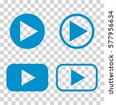 button  icon. vector... | Shutterstock .eps vector #577956634
