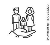 here is a family   vector... | Shutterstock .eps vector #577962220
