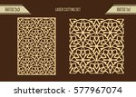 diy laser cutting set. woodcut... | Shutterstock .eps vector #577967074