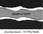 ripped paper transparent... | Shutterstock .eps vector #577967848