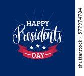 vector presidents day card.... | Shutterstock .eps vector #577974784