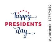 vector presidents day card.... | Shutterstock .eps vector #577974880