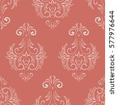 seamless damask pattern of dots.... | Shutterstock .eps vector #577976644