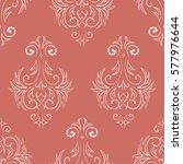 seamless damask pattern of dots....   Shutterstock .eps vector #577976644