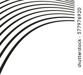 black and white wave stripe... | Shutterstock .eps vector #577976920