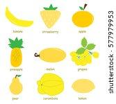 symbol  icon  logo.yellow... | Shutterstock .eps vector #577979953
