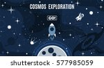 vector flat cosmos design... | Shutterstock .eps vector #577985059