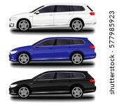 realistic car. station wagon....   Shutterstock .eps vector #577985923