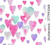 seamless watercolor pattern... | Shutterstock . vector #577991068