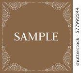 vector frame. decorative design ... | Shutterstock .eps vector #577992244