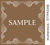 vector frame. decorative design ... | Shutterstock .eps vector #577992358