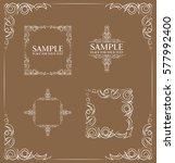 frames. decorative elements....   Shutterstock .eps vector #577992400