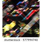 art abstract geometric pattern... | Shutterstock .eps vector #577994740