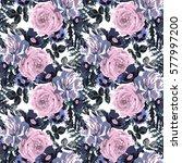 elegant seamless pattern with... | Shutterstock .eps vector #577997200