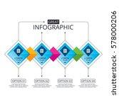 infographic flowchart template. ... | Shutterstock .eps vector #578000206
