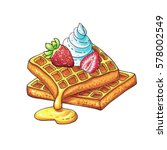 waffles   Shutterstock . vector #578002549