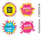 sale splash banner  special... | Shutterstock .eps vector #578002678