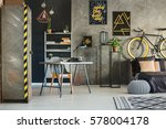 flat in industrial style with... | Shutterstock . vector #578004178