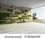 wall in modern interior with...   Shutterstock . vector #578006509
