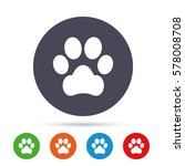 dog paw sign icon. pets symbol. ... | Shutterstock .eps vector #578008708