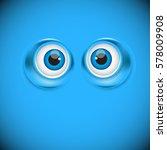 Cartoon Eyes As Funny Symbol ...