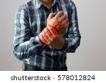 man suffering from elbow joint... | Shutterstock . vector #578012824