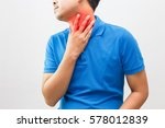 men are sick from the flu  sore ... | Shutterstock . vector #578012839