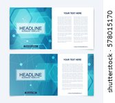 templates for square brochure.... | Shutterstock .eps vector #578015170