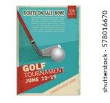golf. vintage  retro poster or... | Shutterstock .eps vector #578016670