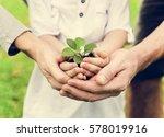 kid gardening greenery growing... | Shutterstock . vector #578019916