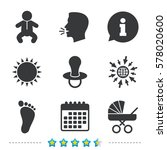 baby infants icons. toddler boy ... | Shutterstock .eps vector #578020600
