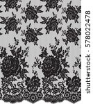 seamless black vector lace... | Shutterstock .eps vector #578022478