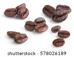 Roasted Coffee Beans Isolated...