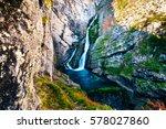 savica waterfall near bohinj... | Shutterstock . vector #578027860
