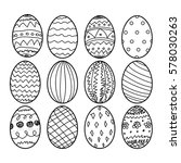 easter eggs hand drawn... | Shutterstock .eps vector #578030263