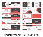business card templates.... | Shutterstock .eps vector #578034178
