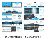 business card templates.... | Shutterstock .eps vector #578034964