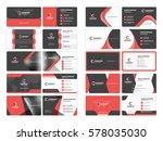 business card templates.... | Shutterstock .eps vector #578035030