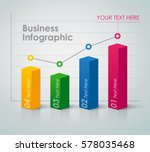 business infographic   bar chart