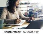 portrait of a serious asian... | Shutterstock . vector #578036749