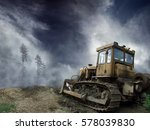 A Picture Of Bulldozer Standin...