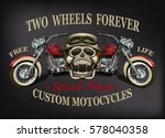 vintage custom motorcycle ...   Shutterstock .eps vector #578040358